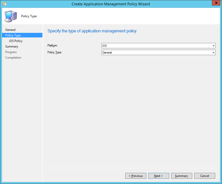 Application Management Policy - 02 - Policy Type