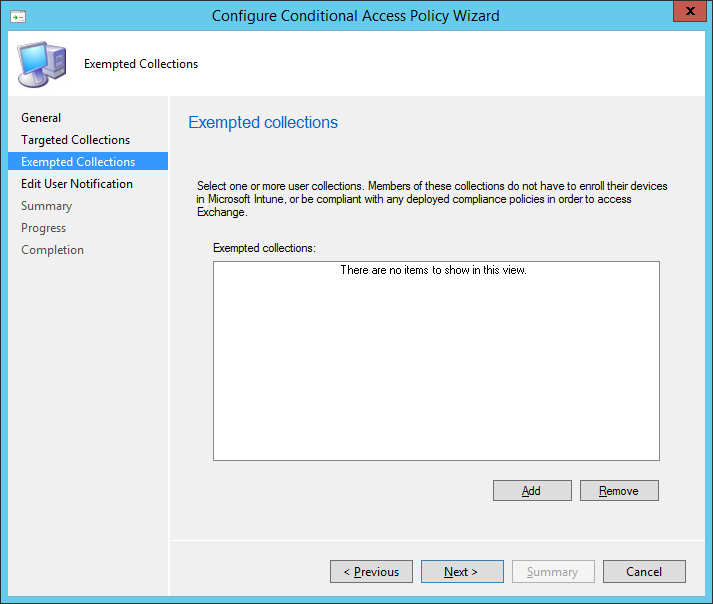 Conditional Access - 05 - Exempted Collections
