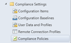 Console - Compliance Policies