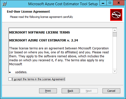 MACE Tool - Install - License Agreement