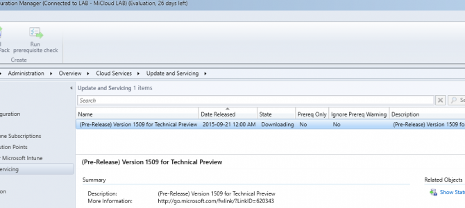Update 1590 for System Center Configuration Manager 2016 Technical Preview 3