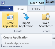 SCCM - Software Library - Create Application