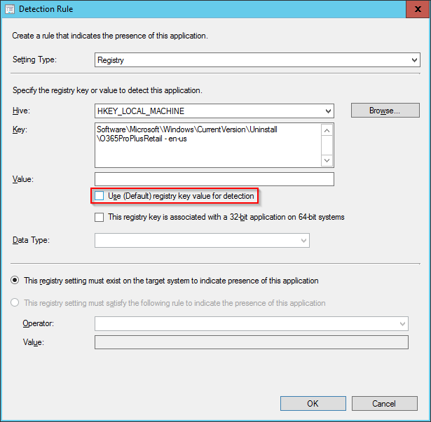 SCCM - Updated Detection Method