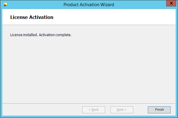 Squared Up - Product Activation Wizard - Activation Complete