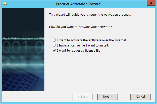 Squared Up - Product Activation Wizard - Request A License File