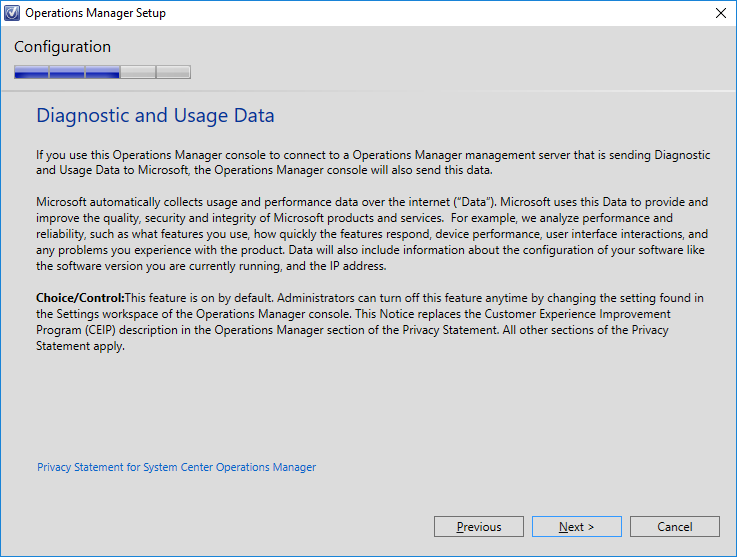 SCOM 2016 TP4 - Diagnostics and Data Usage