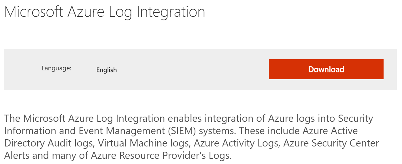 Azure Security Center - Log Integration