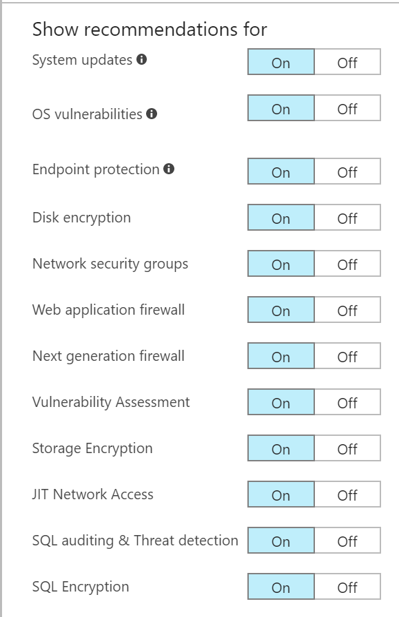 Azure Security Center - Recommendation Checks