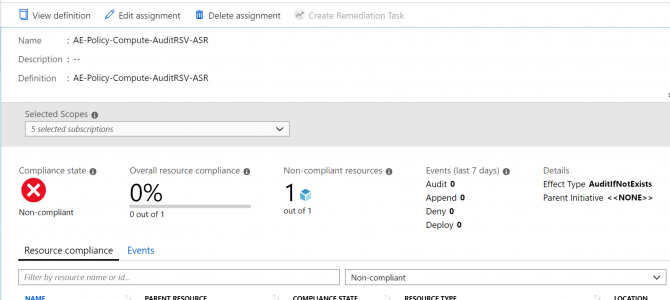 Auditing for Disaster Recovery with Azure Policy