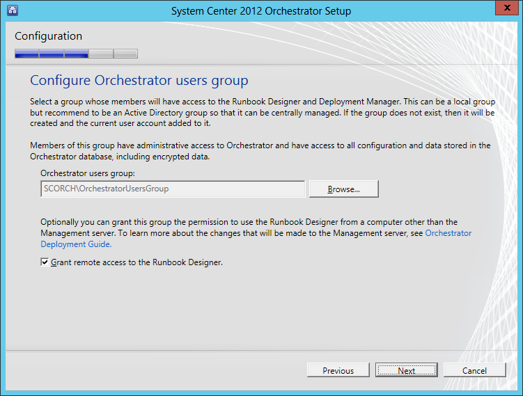 orchestrator-install-01 SCORCH 2012 SP1 in a LAB – Installation Guide (Install Orchestrator)
