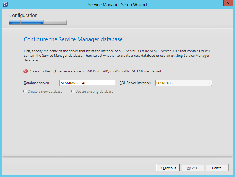 Service Manager 2012 R2 Installation Fails To Identify SQL
