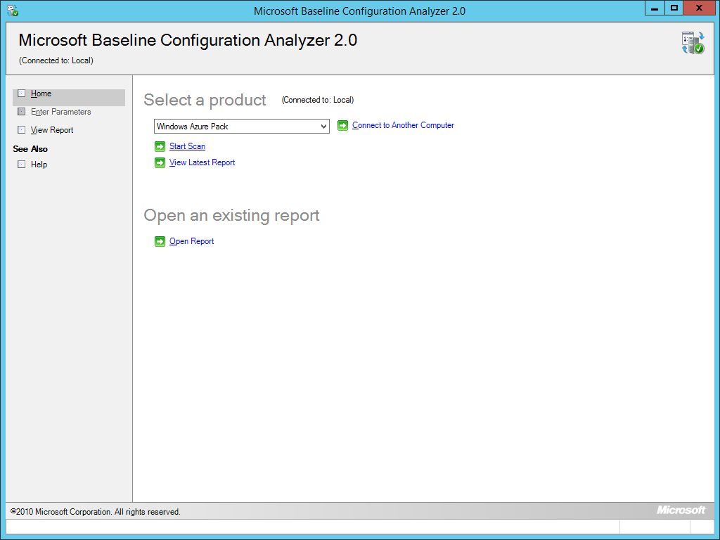 Baseline Configuration Analyzer - WAP Start Scan