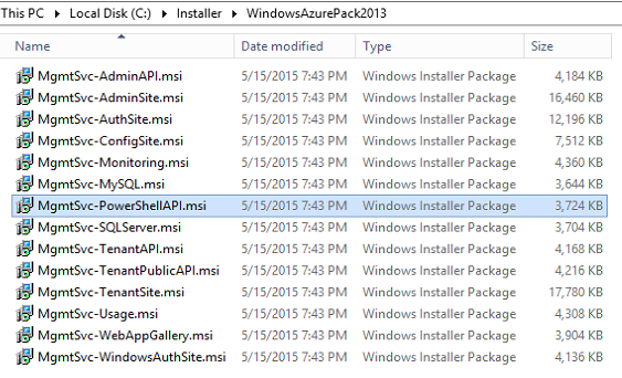 Windows Azure Pack (WAP) - PowerShell Deployment Toolkit (PDT) - Downloader.ps1 Windows Azure Pack Installation