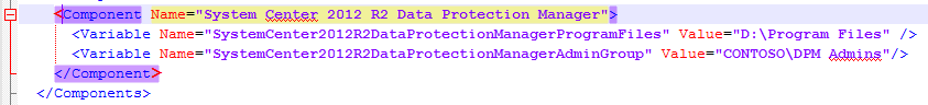 PDT-VaribleXML-w-DPM-Component Data Protection Manager Remote Administration Console Error ID 948