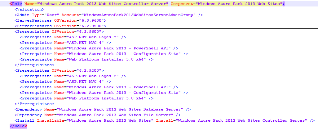 Windows Azure Pack (WAP) - PowerShell Deployment Toolkit (PDT) - Workflow.xml - PowerShell API - Role Association
