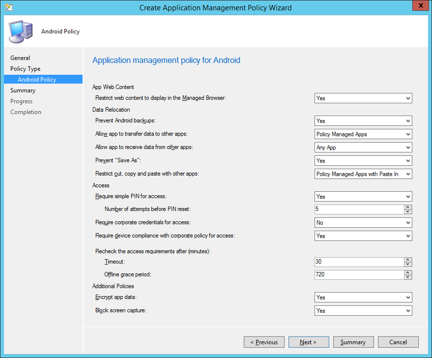 Application Management Policy - 03B - Android Policy