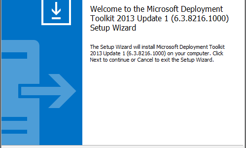Microsoft Deployment Toolkit 2013 Update 1 Preview – Installation