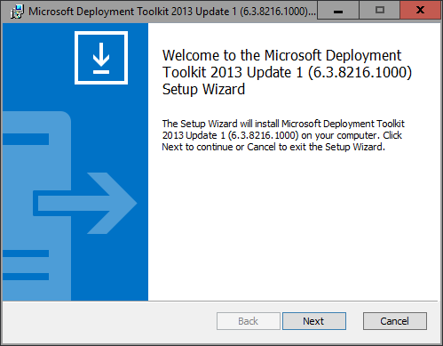 Microsoft Deployment Toolkit 2013 Update 1 Preview