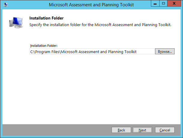 MAP Toolkit - Install 03 - Installation Folder