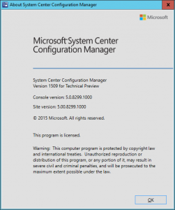 SCCM-2016-TP3-U1509-About-Config-Manager-1-251x300 SCCM 2016 TP3 U1509 - About Config Manager