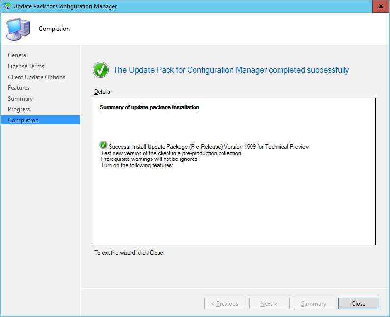 Update 1590 for System Center Configuration Manager 2016