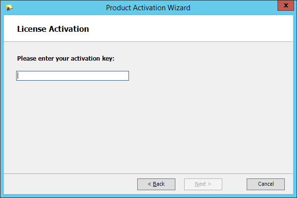 Squared Up - Product Activation Wizard - License Activation