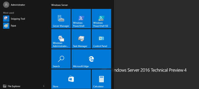 Windows Server 2016 Technical Preview 4 – Now With Even More 'Windows 10' Look and Feel