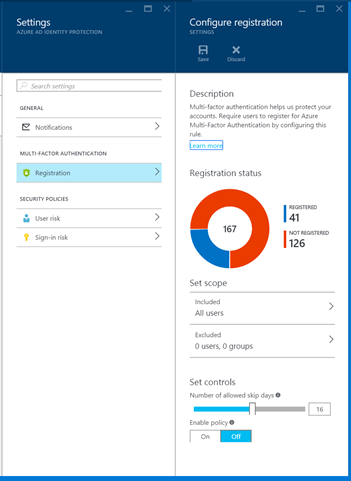 Azure Active Directory Multi-factor Authentication Registration Policy