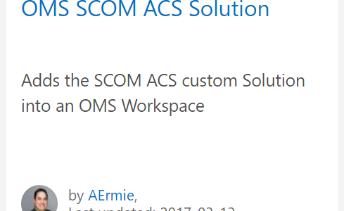 The OMS ACS Dashboard Solution – Now on GitHub!