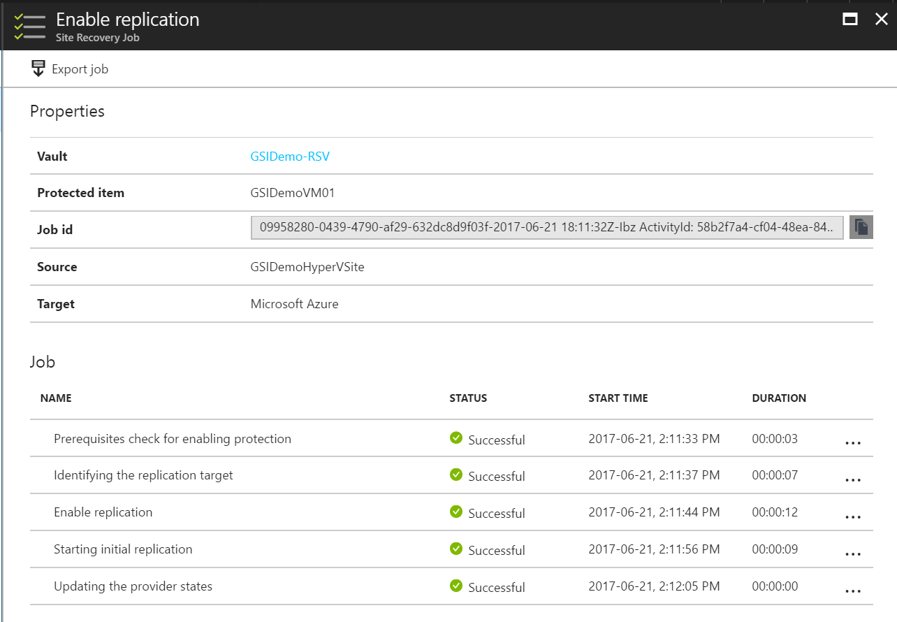 ASR Enable Replication