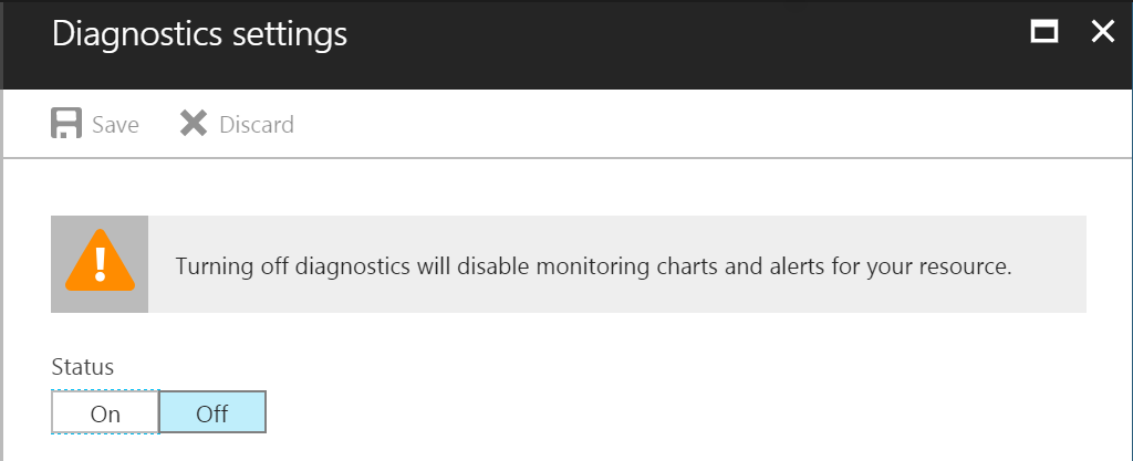 Azure Backup Reports - Diagnostics Settings