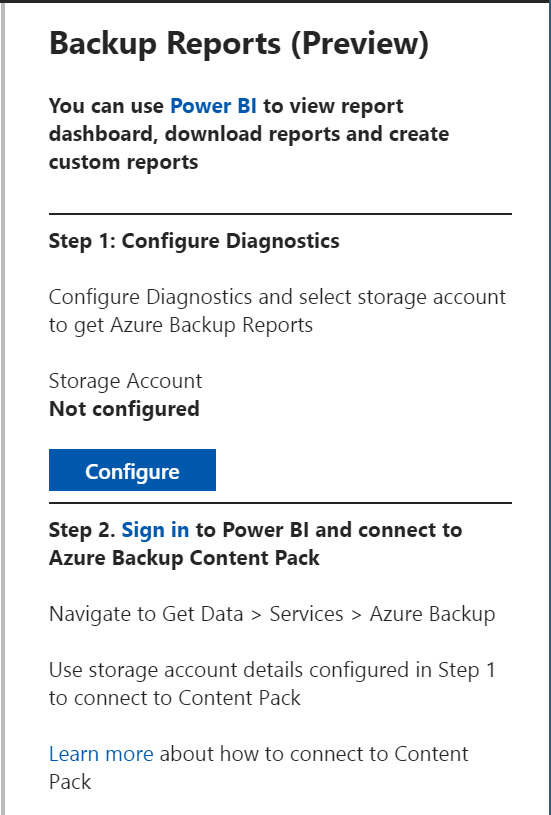 Azure Backup Reports - Instructions