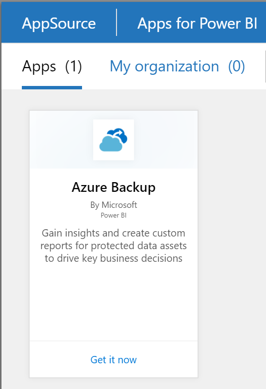 Azure Backup Reports - PowerBI - AppSource