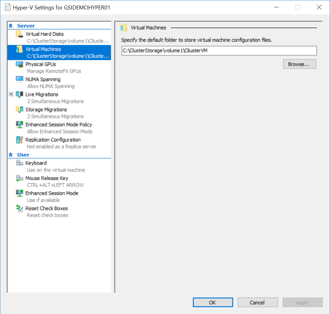 HyperVHostConfig Using ASR with a Standalone Hyper-V Host Configured as a Cluster