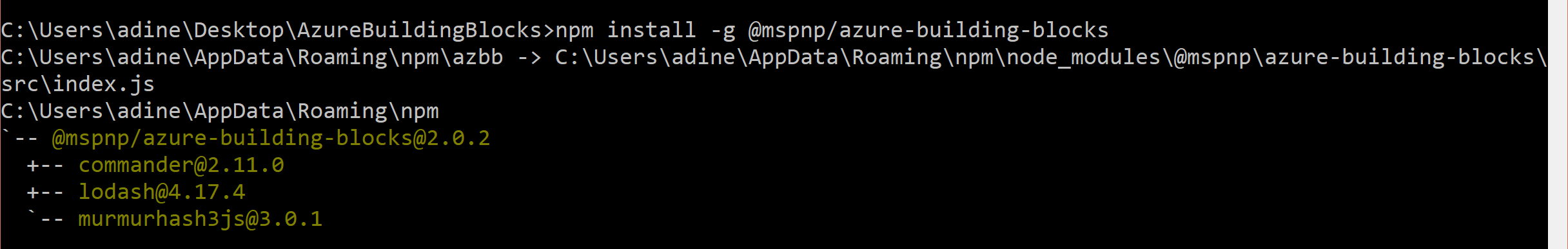 Azure Building Blocks - NPM Package