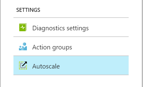 Azure Monitor - Settings